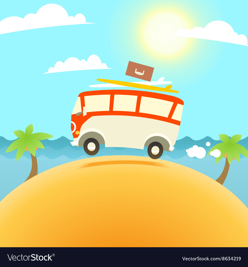 Summer Surfing vector image