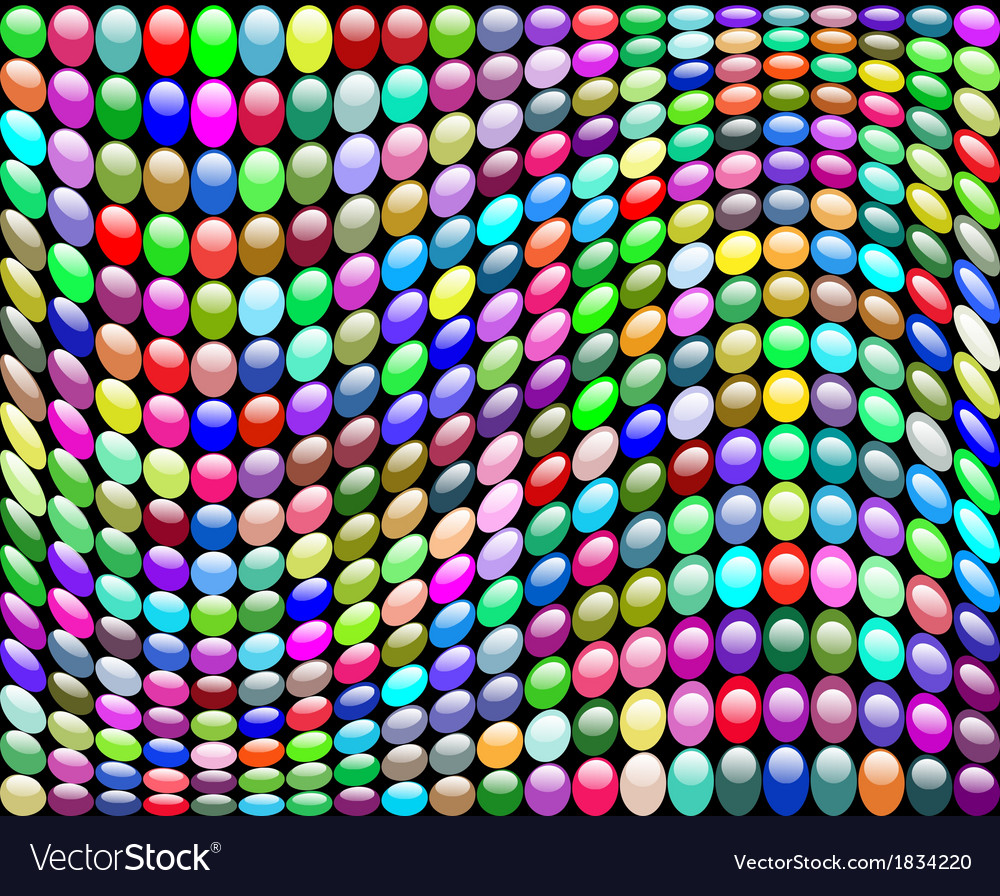 Background with a wave of circles vector image