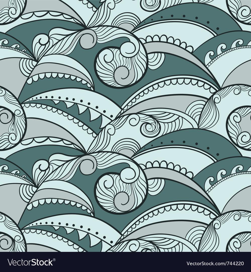 Seamless waves vector image