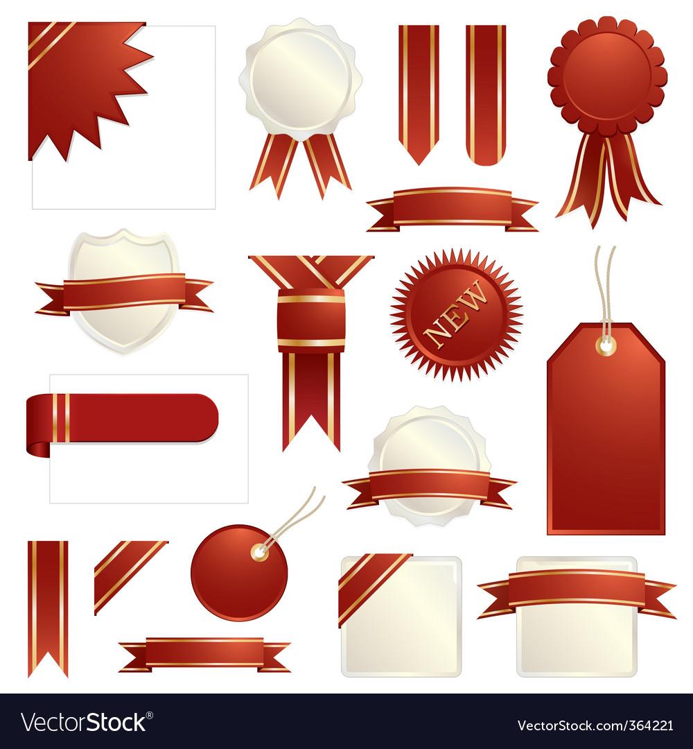 Decorative ribbons vector image