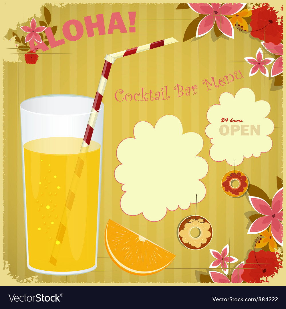 Design Menu card for Cocktail Bar vector image