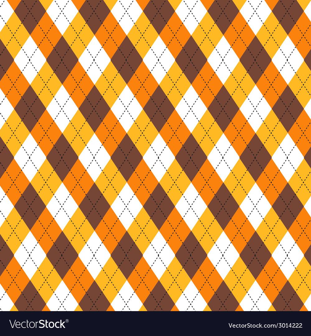 Candy Corn Argyle vector image
