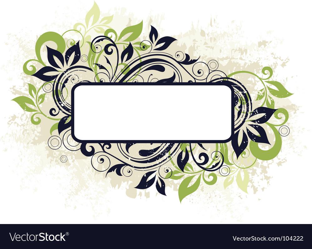 Floral frame banner vector image