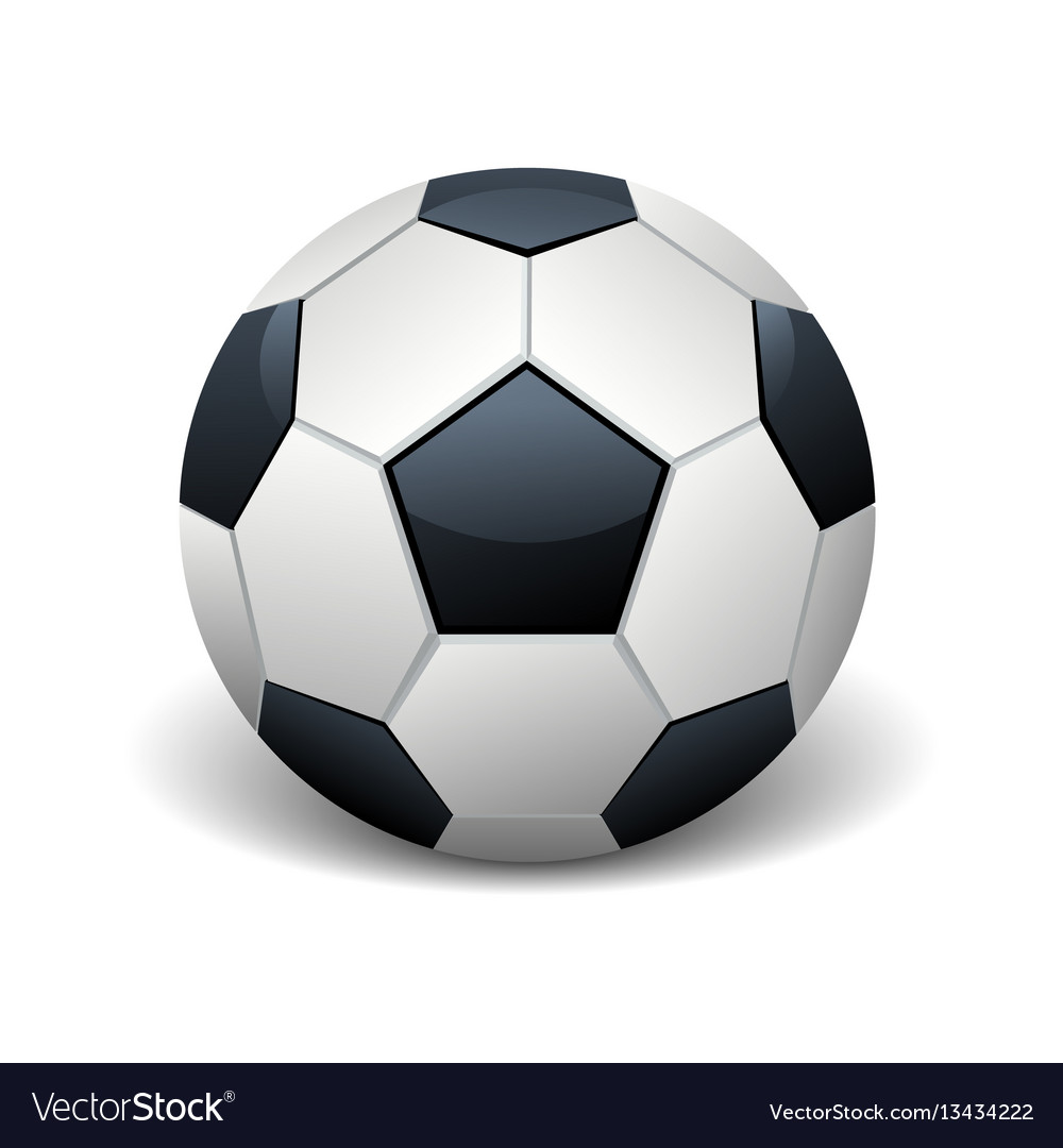 Realistic soccer ball isolated white vector image