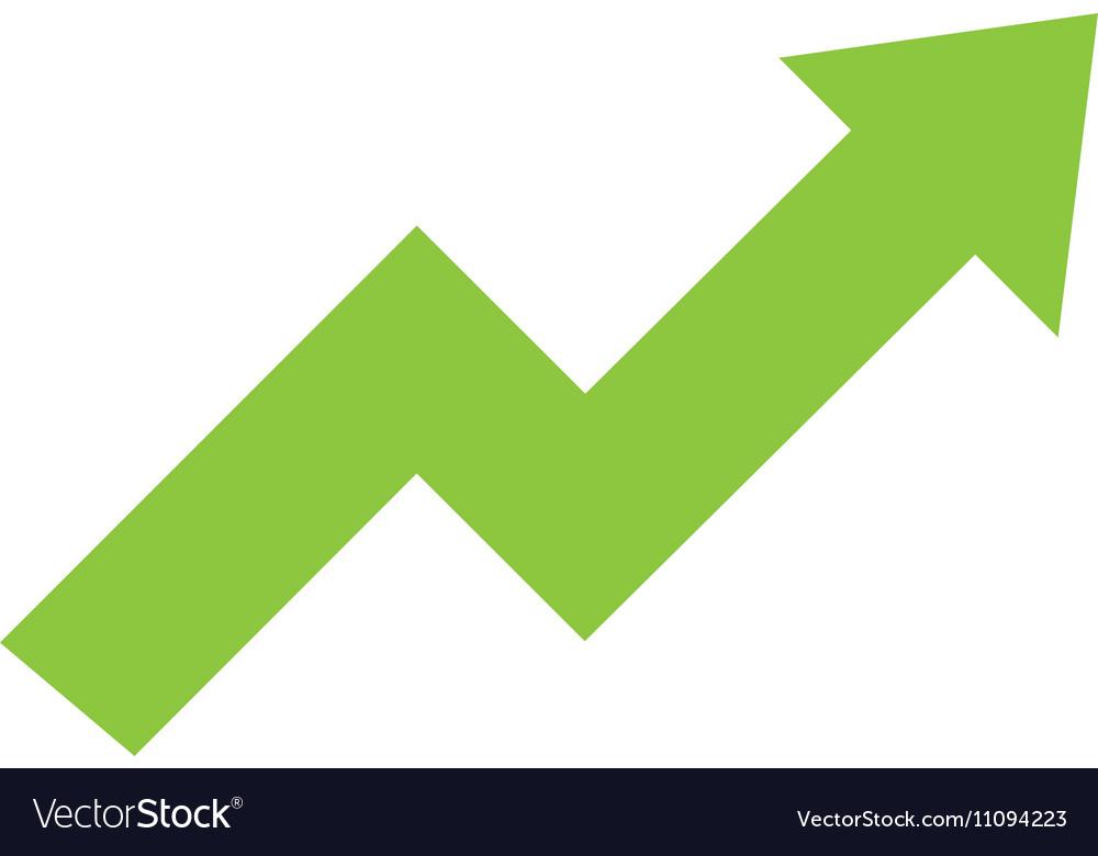 Arrow growth graphic icon vector image