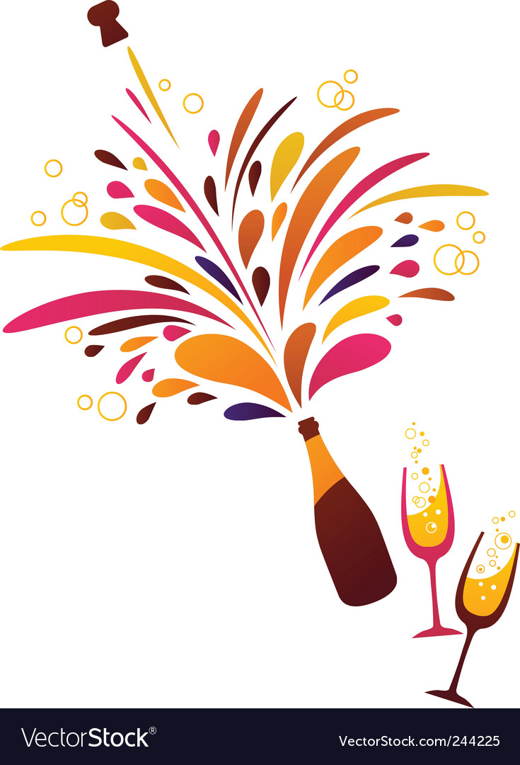 Champagne bubbles Vector Image