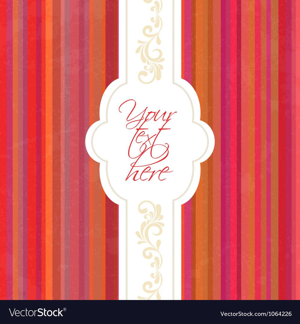 Vintage frame invitation Vector Image