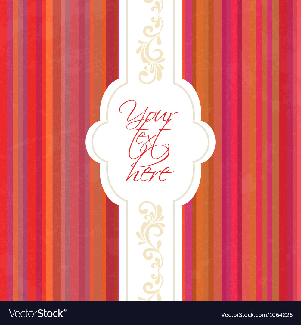 Vintage frame invitation vector image