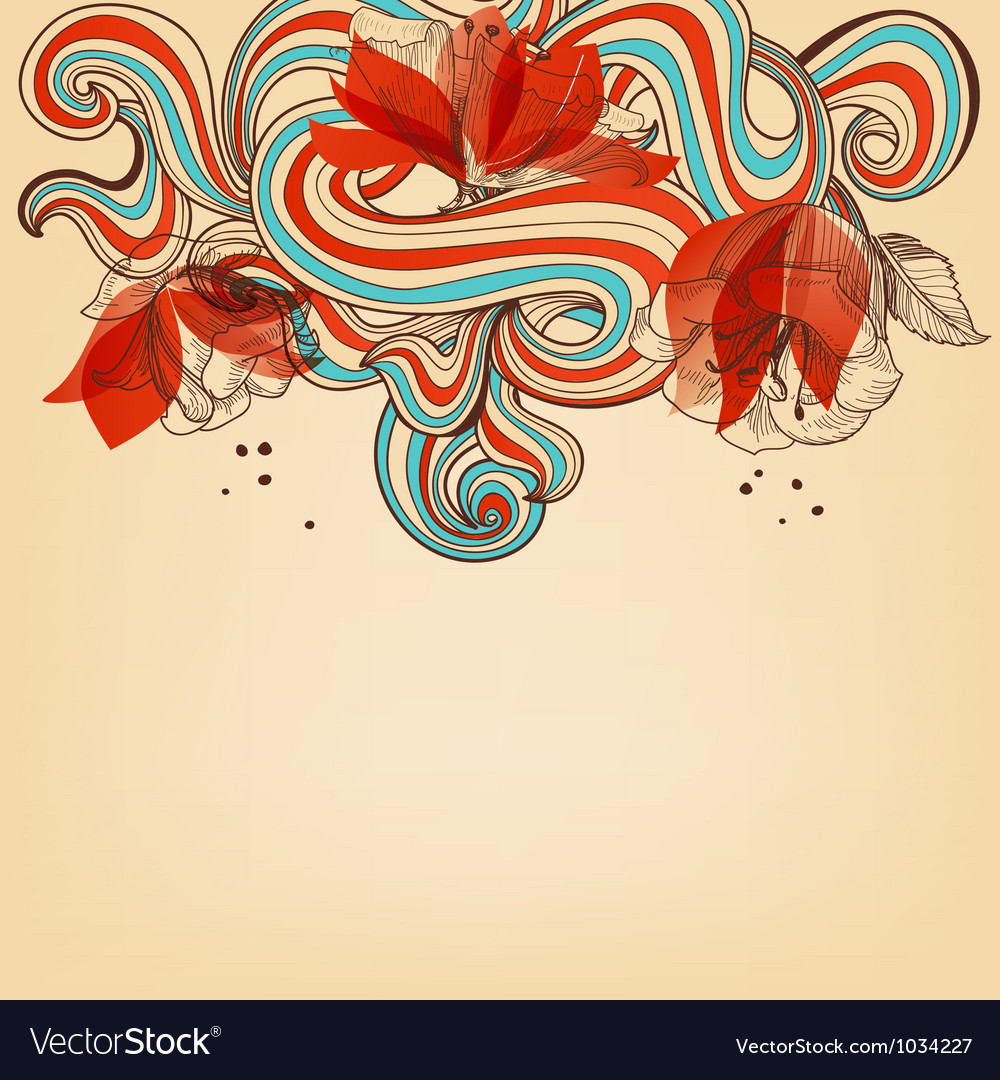 Beautiful romantic floral background vector image