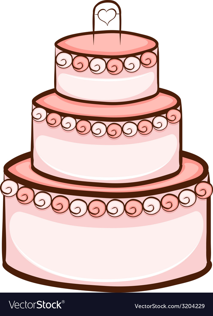 A simple drawing of a wedding cake vector image