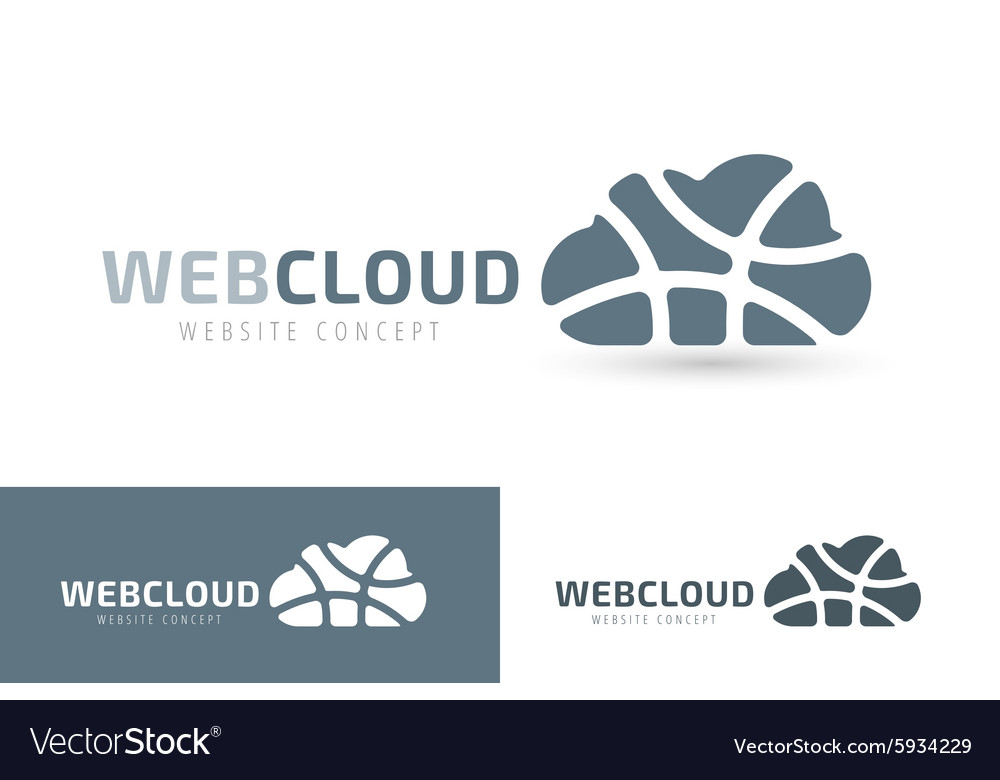 Abstract net cloud logo vector image