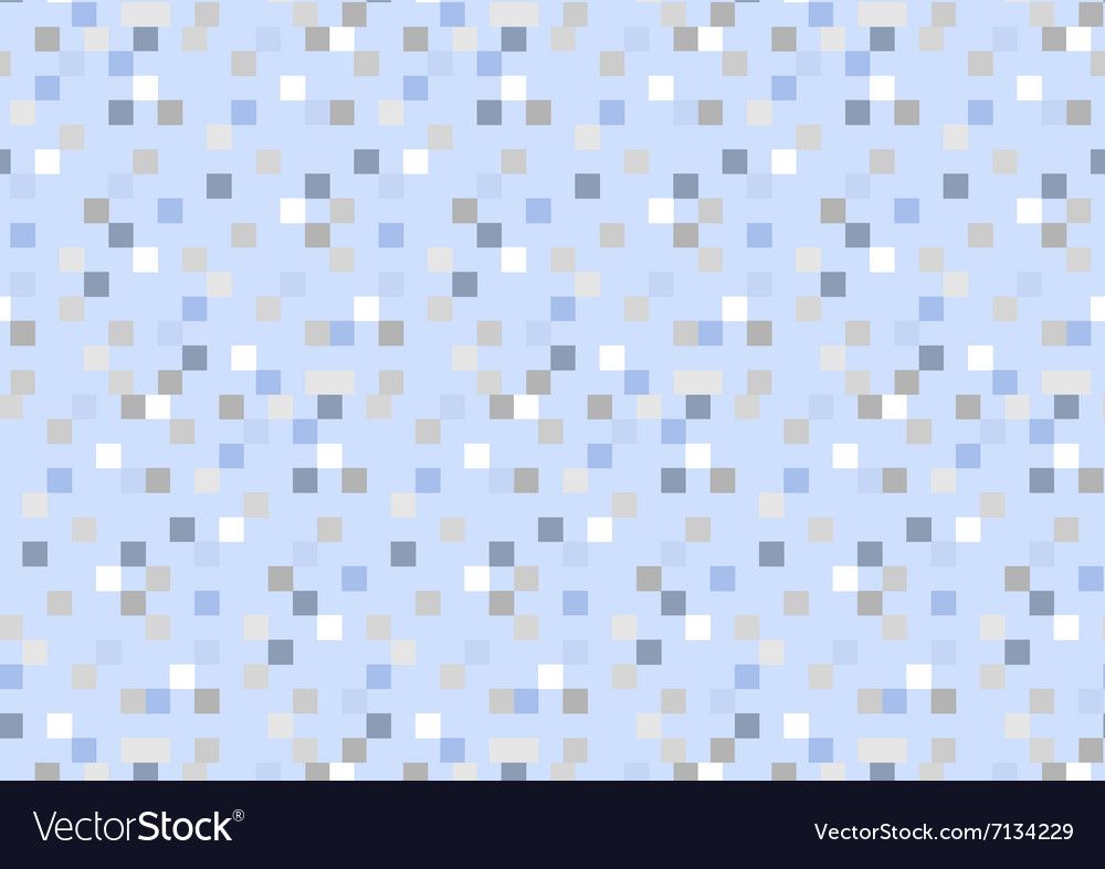 Geometry blue serenity background seamless pattern vector image