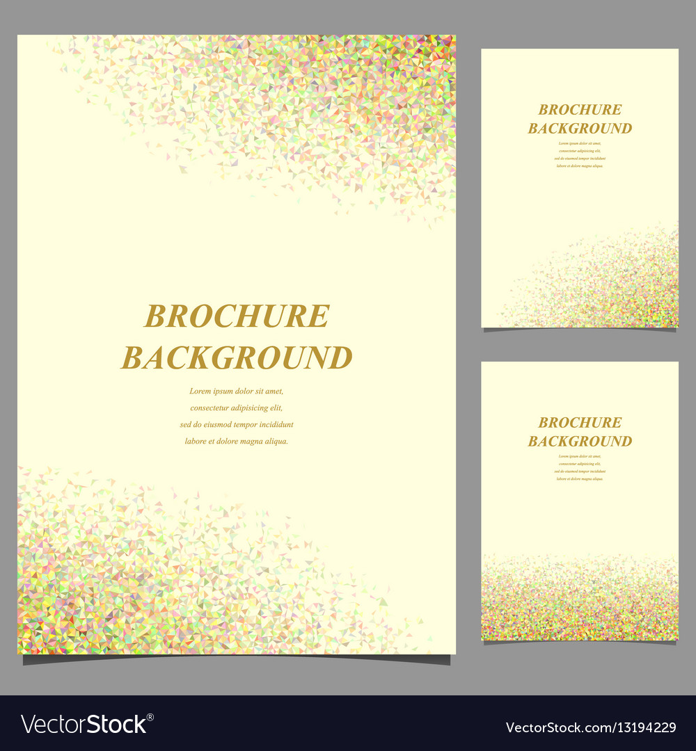 Modern geometric abstract brochure template design vector image