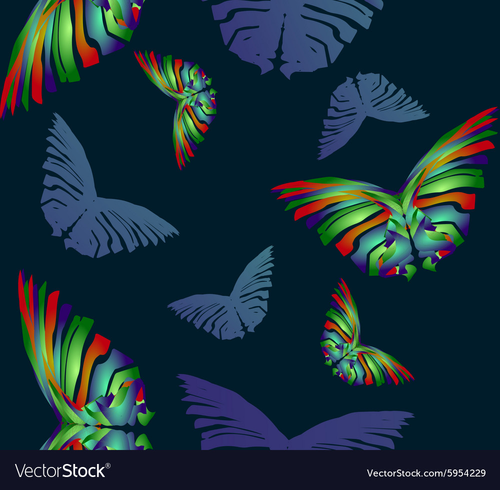 Seamless Butterfly Pattern1 vector image
