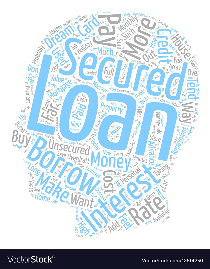 Please Explain What A Secured Loan Is text vector image