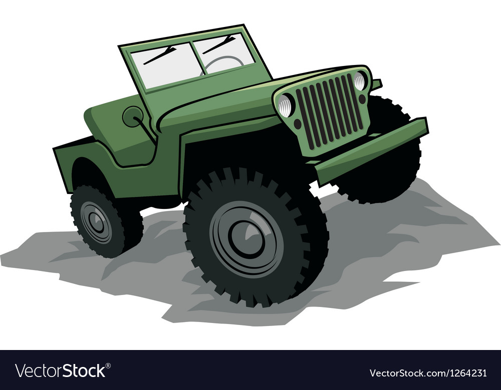 Off road vehicle vector image