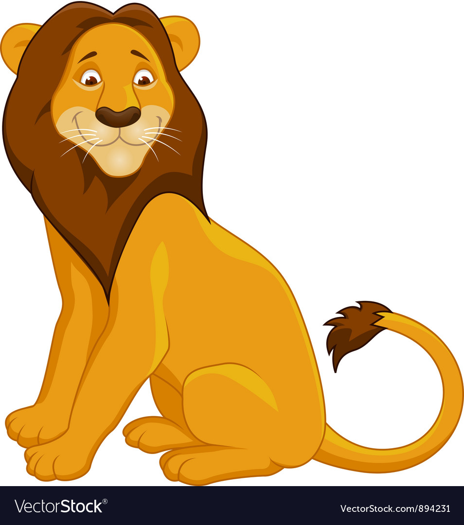 lion cartoon royalty free vector image vectorstock