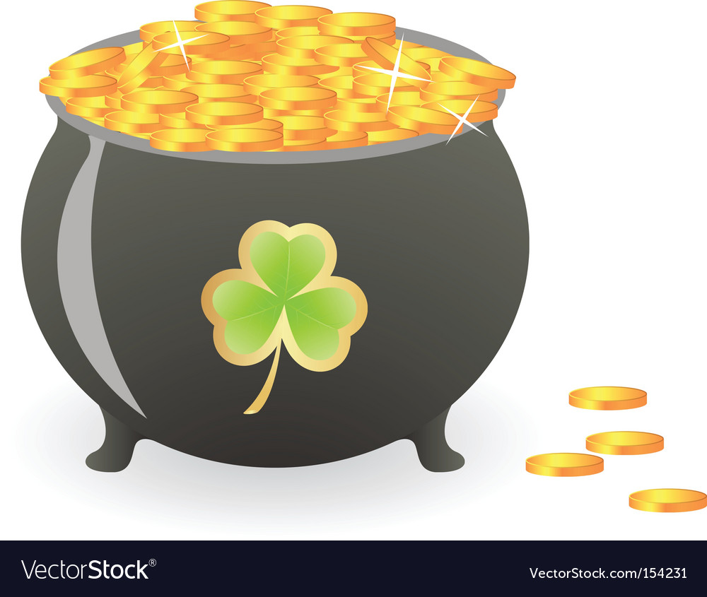 Treasure pan vector image