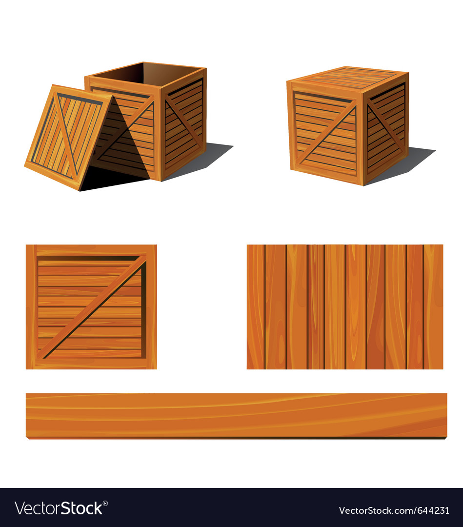 wooden box clipart. wooden box vector image clipart