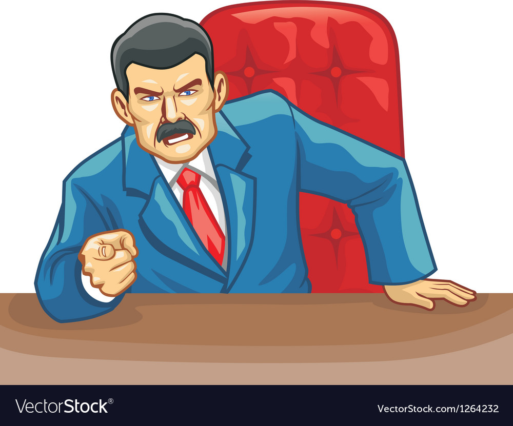 Office boss pointing the finger Vector Image