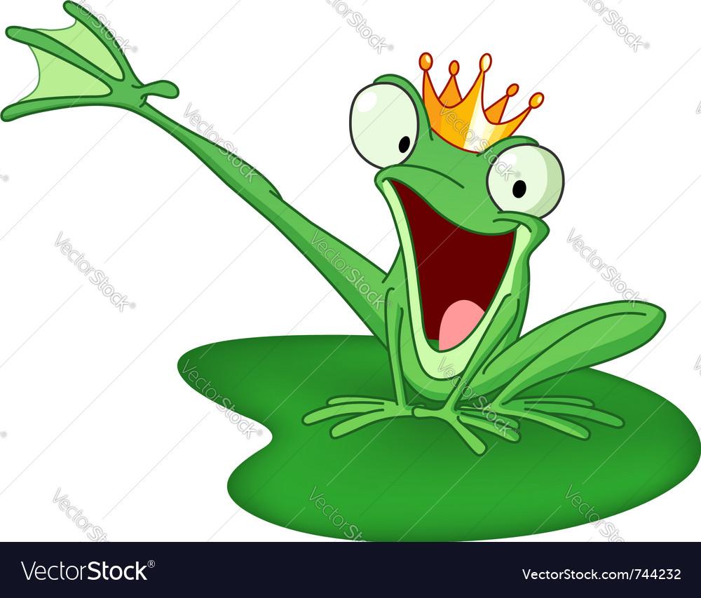 Happy frog prince Vector Image