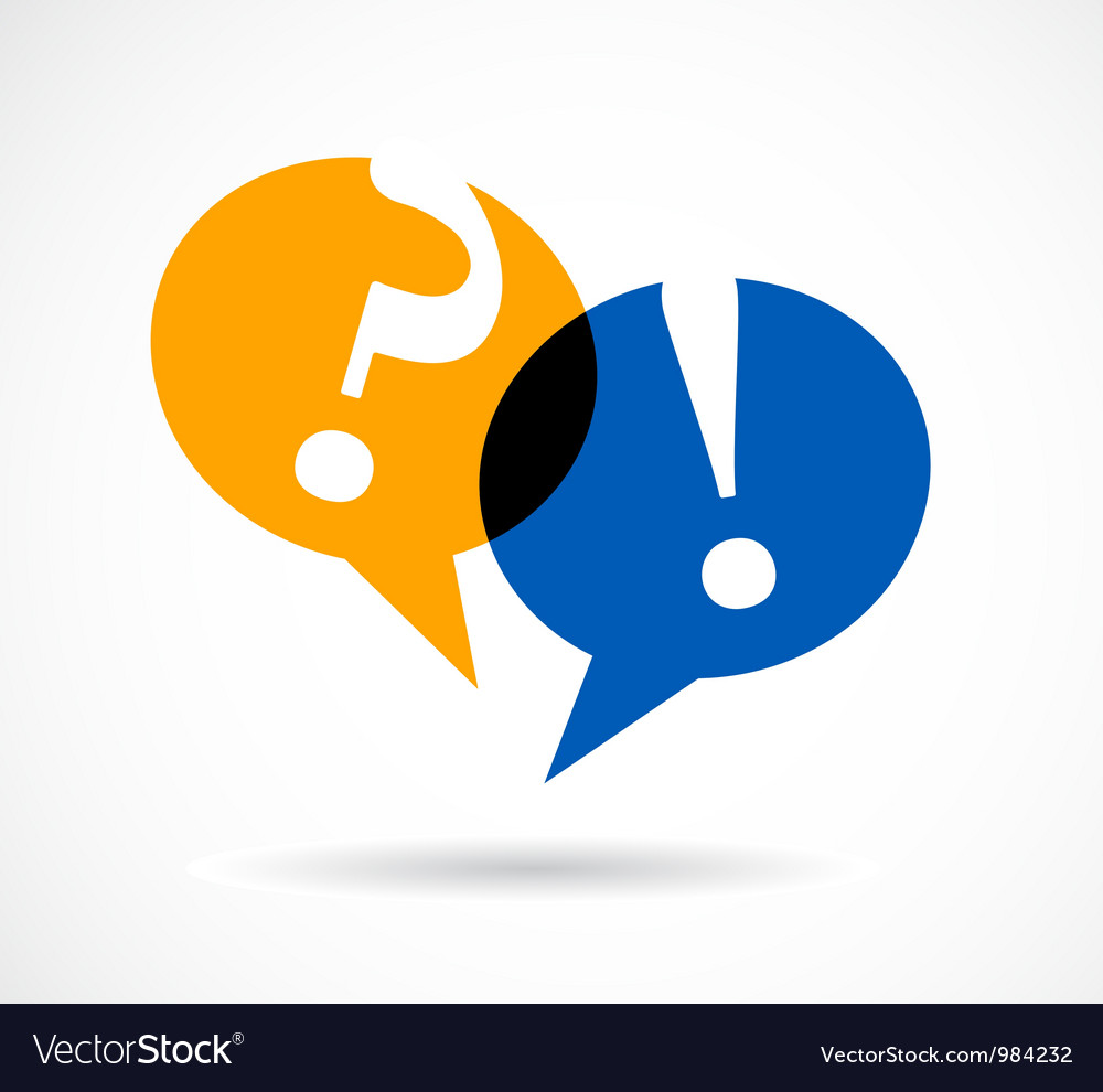 Question and answer marks with speech bubbles vector image