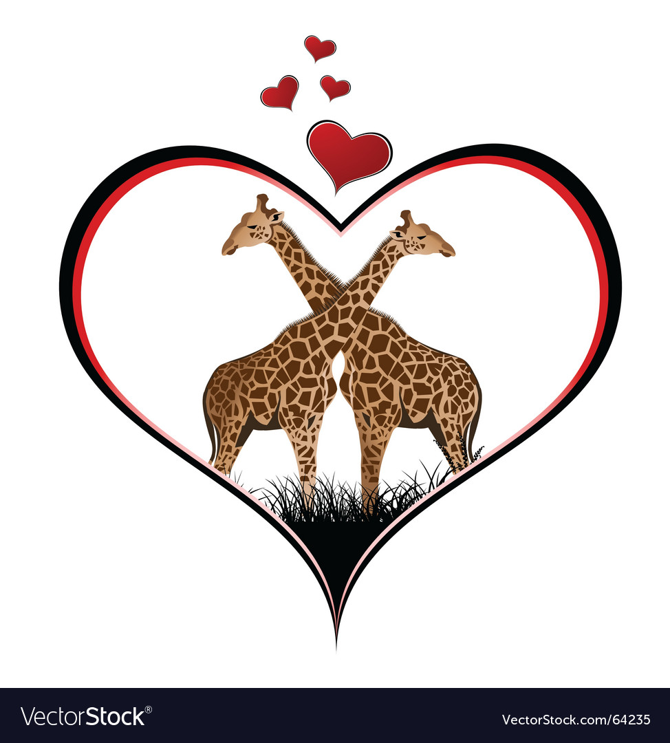Aninimal Book: Giraffe heart Royalty Free Vector Image - VectorStock