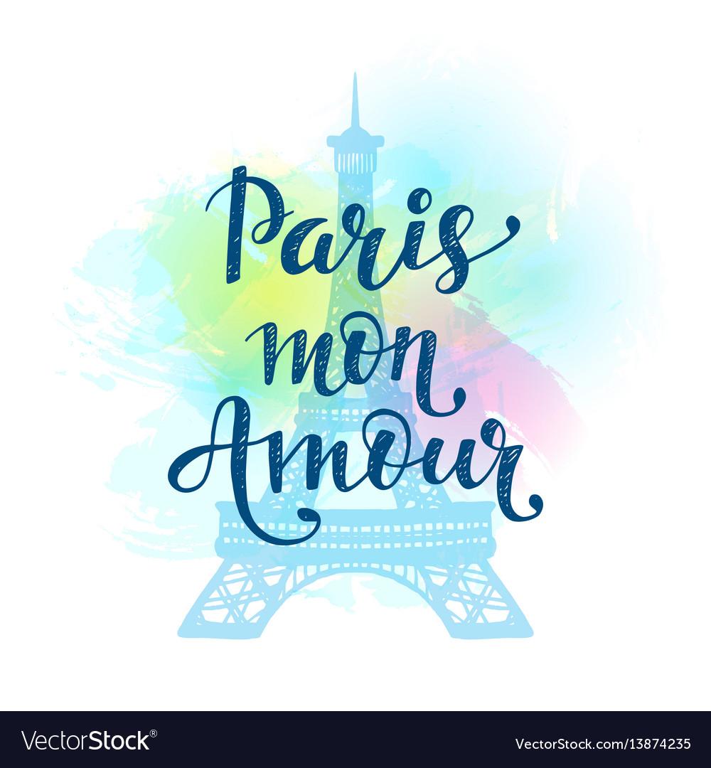 Paris mon amour vector image