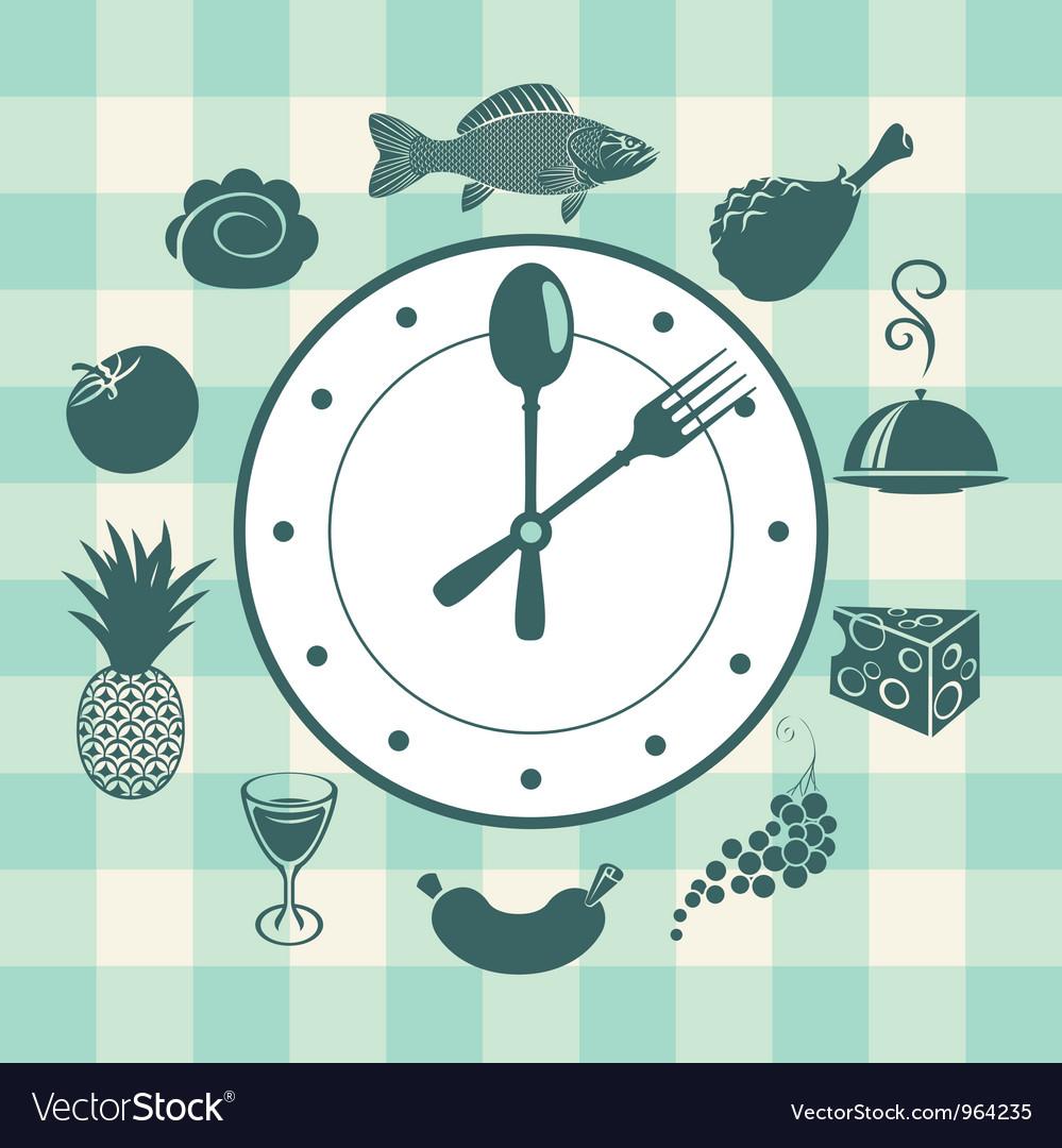 Watch food vector image