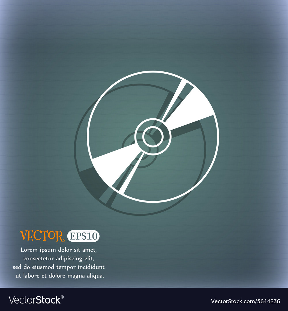Cd DVD compact disk blue ray icon symbol on the vector image