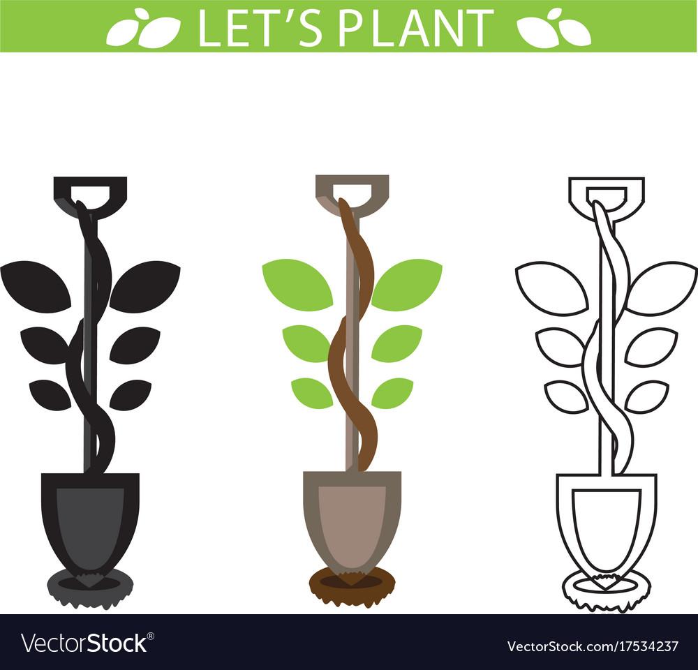 Lets plant vector image