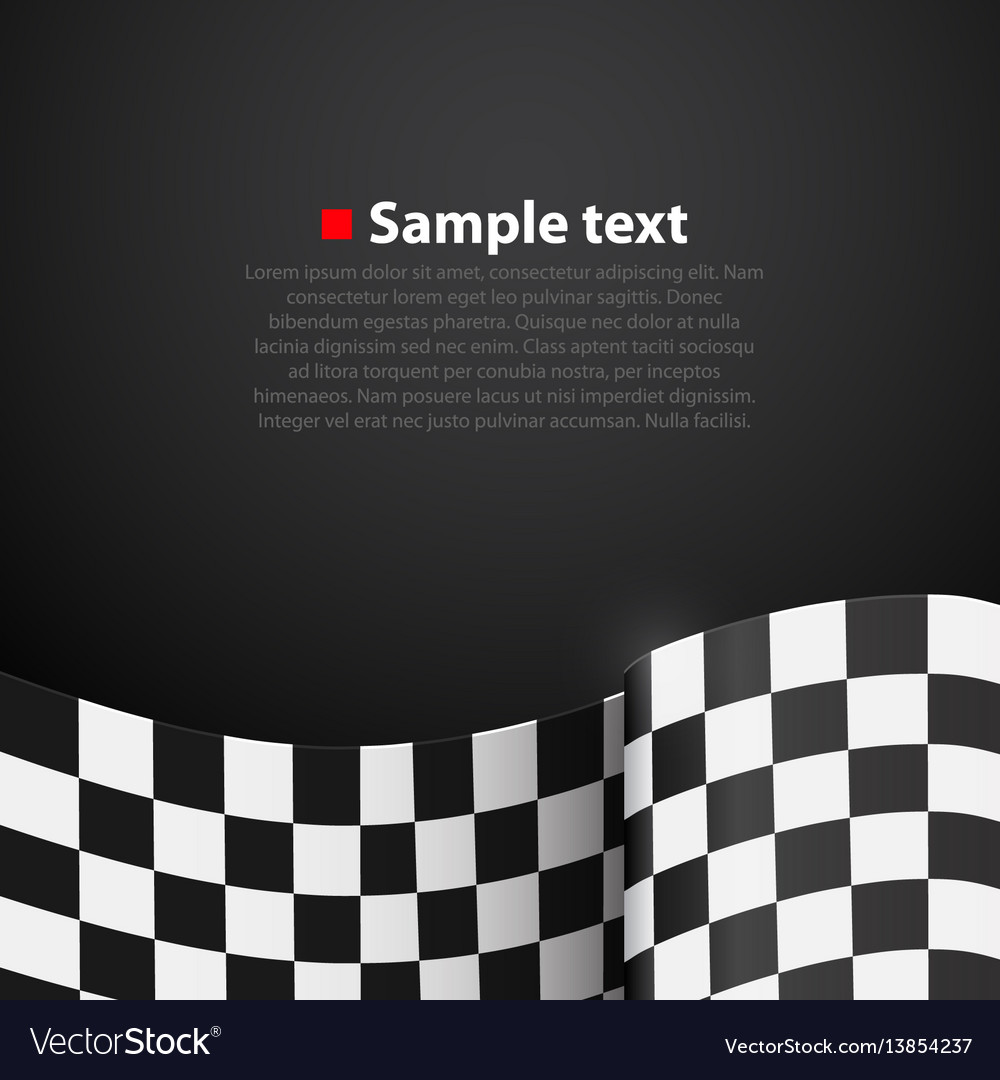 Racing checkered finish flag background vector image