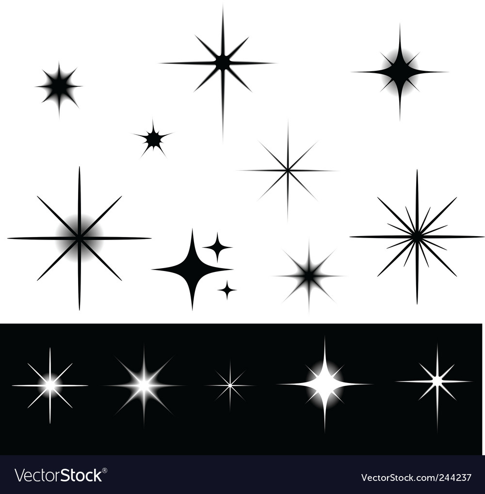Sparkles vector image