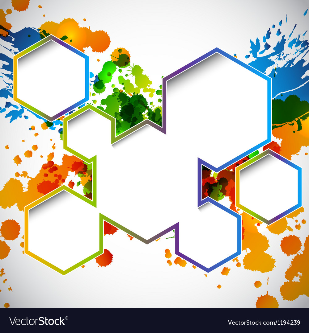 Splash background Vector Image