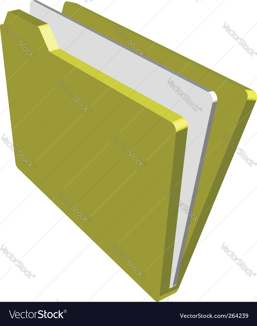Folder illustration Vector Image