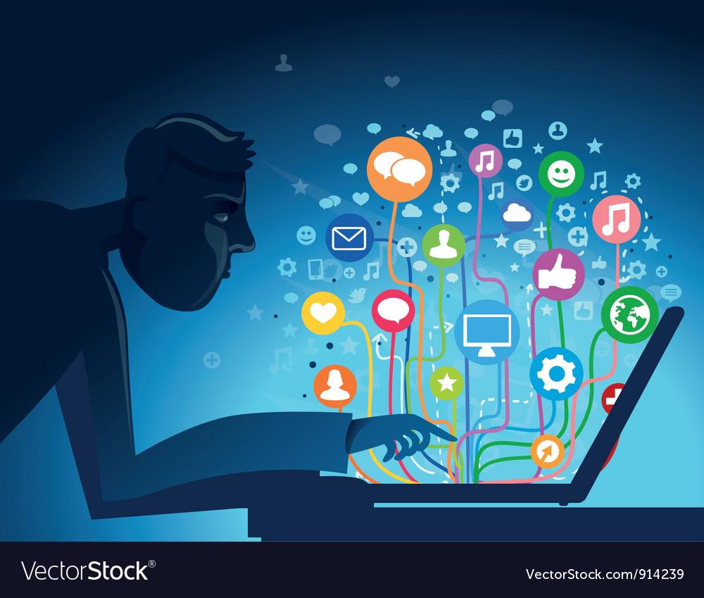 Internet concept vector image