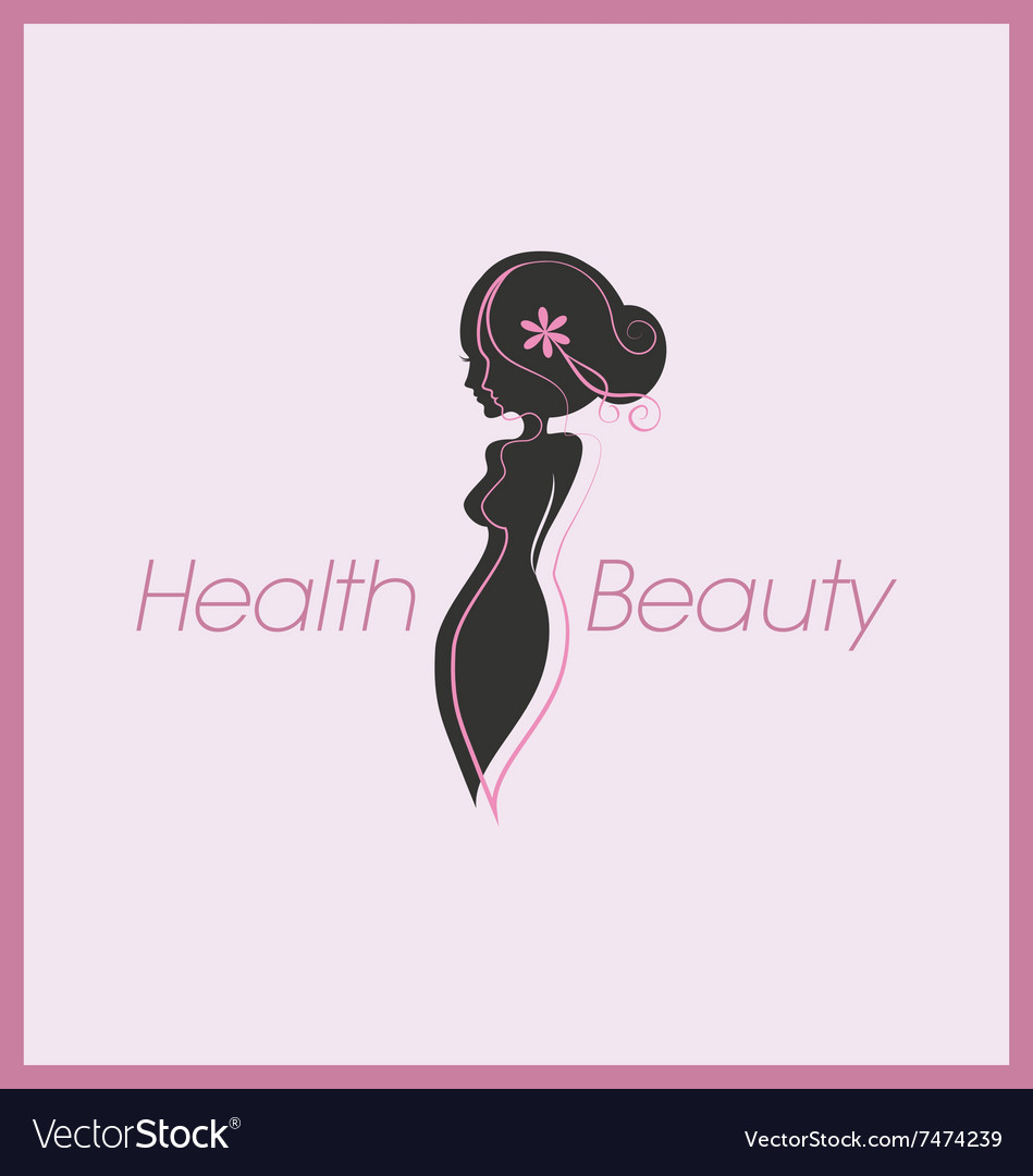 Silhouette Woman Body Logo Vector Image