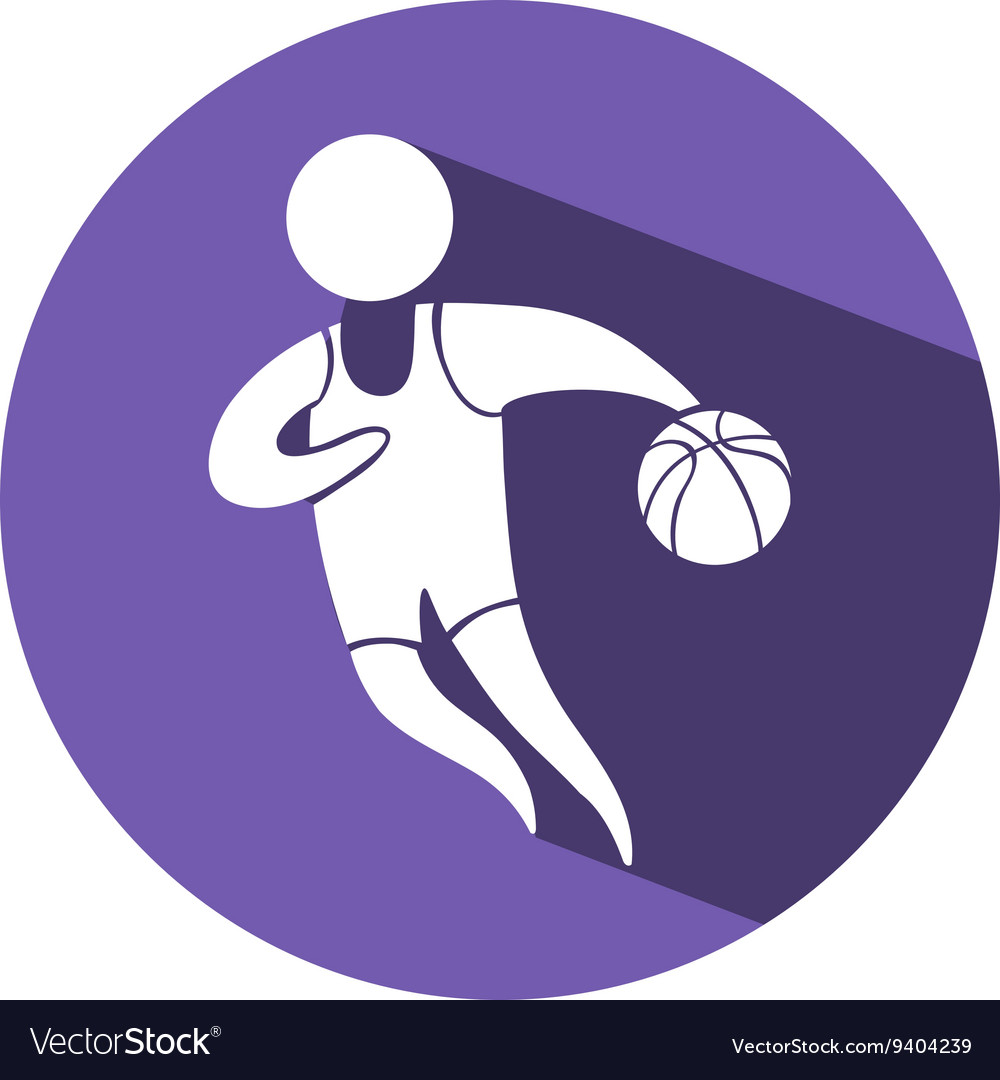 Sport icon for basketball on purple badge vector image sport icon for basketball on purple badge vector image biocorpaavc Choice Image