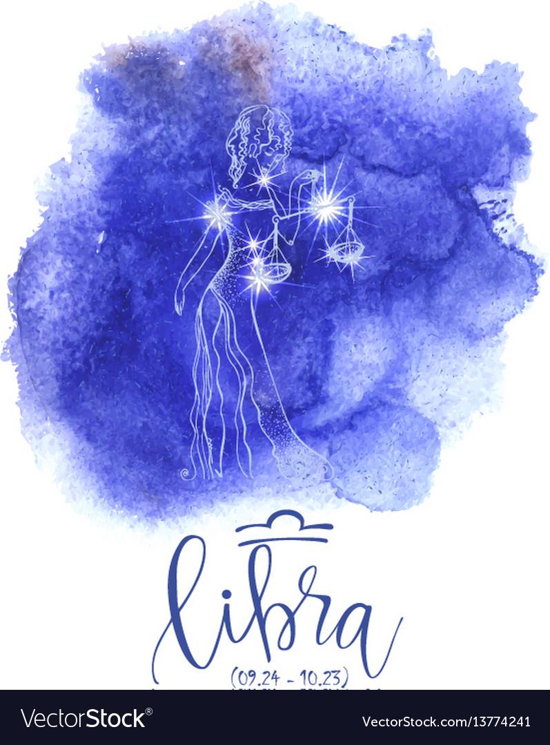Astrology sign libra vector image