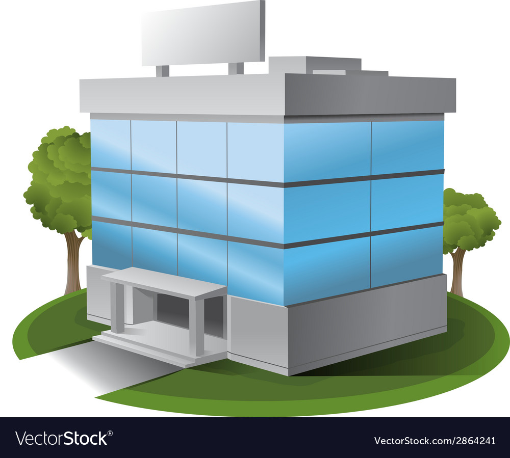 ThreeD office building vector image
