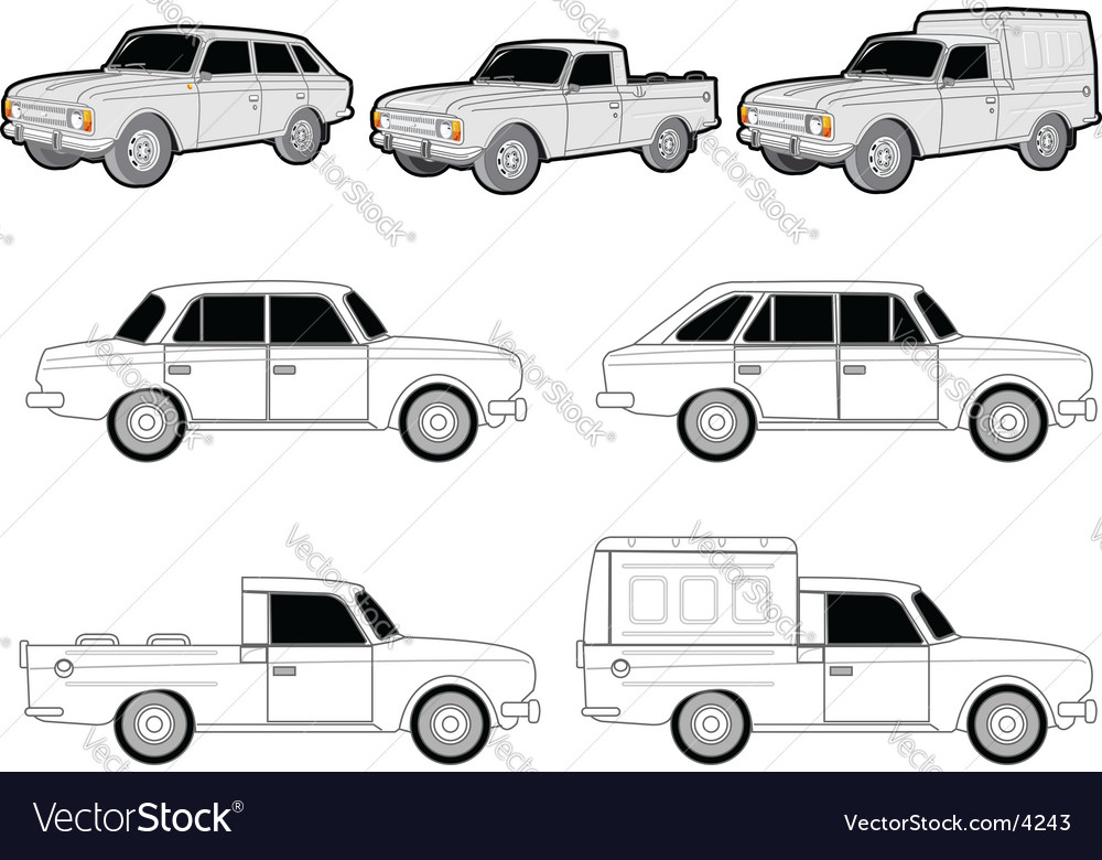 Various car modifications vector image