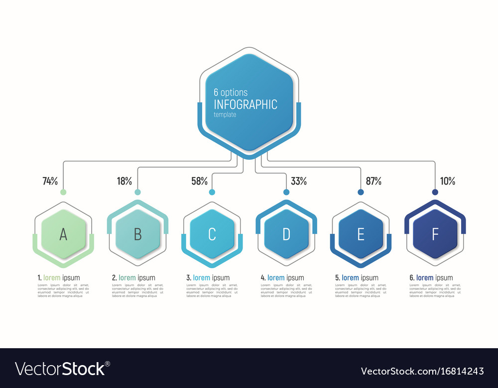 Iinfographic template for data visualization 6 vector image