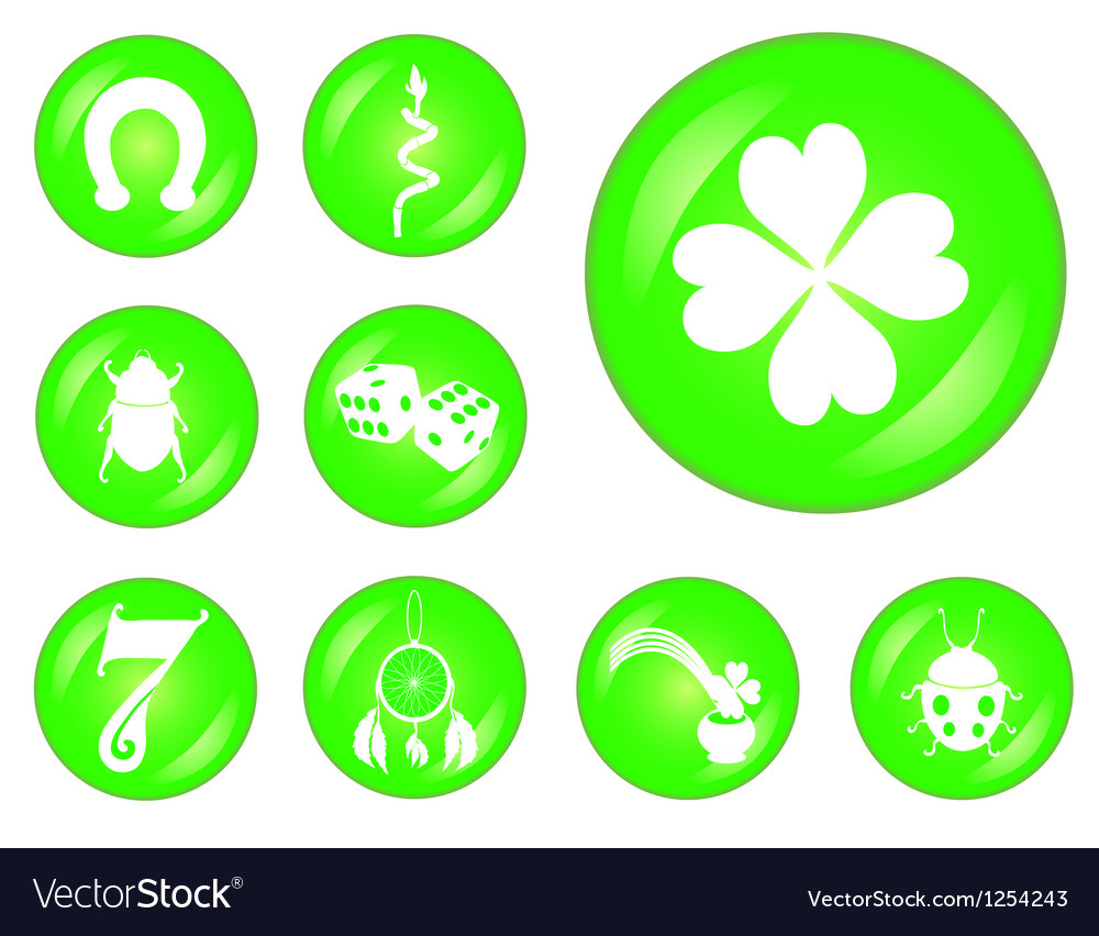 Set of lucky symbols royalty free vector image set of lucky symbols vector image biocorpaavc Image collections