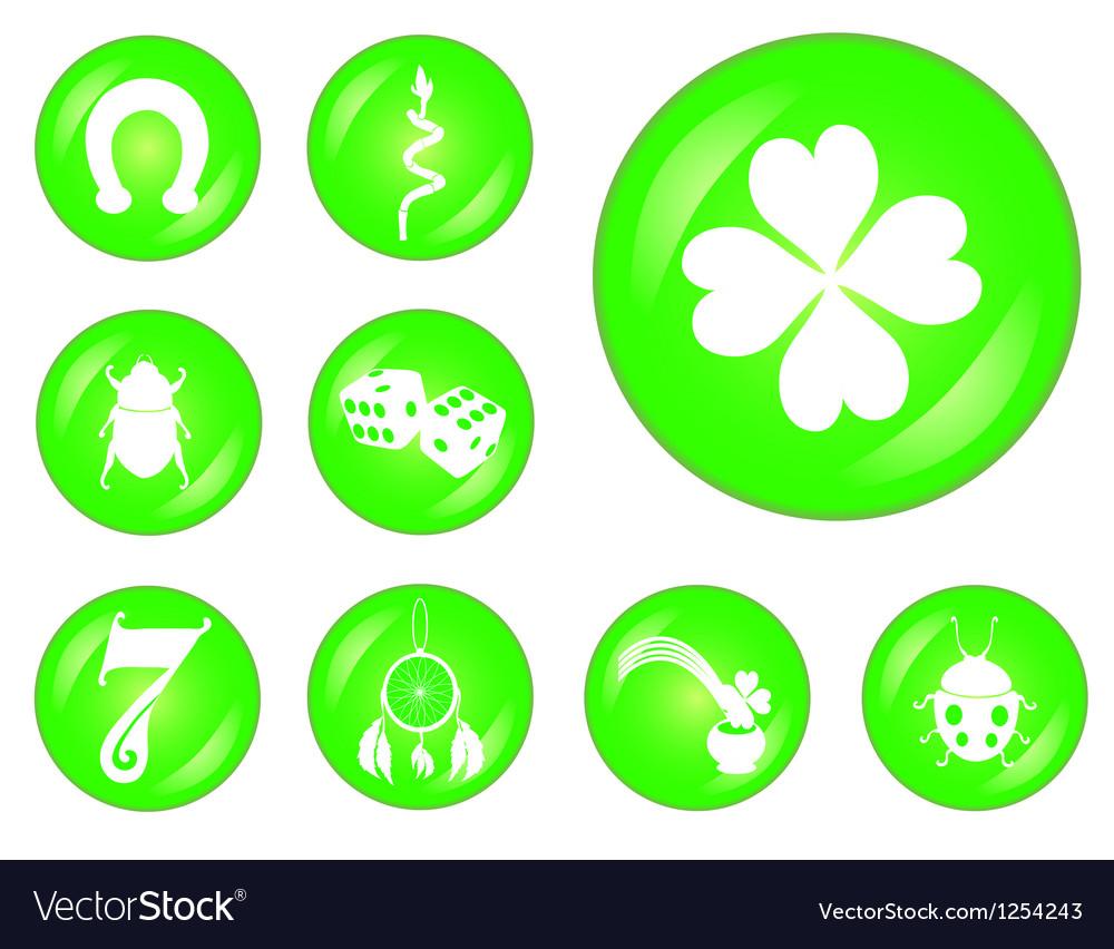 Uncategorized Lucky Symbol set of lucky symbols royalty free vector image image