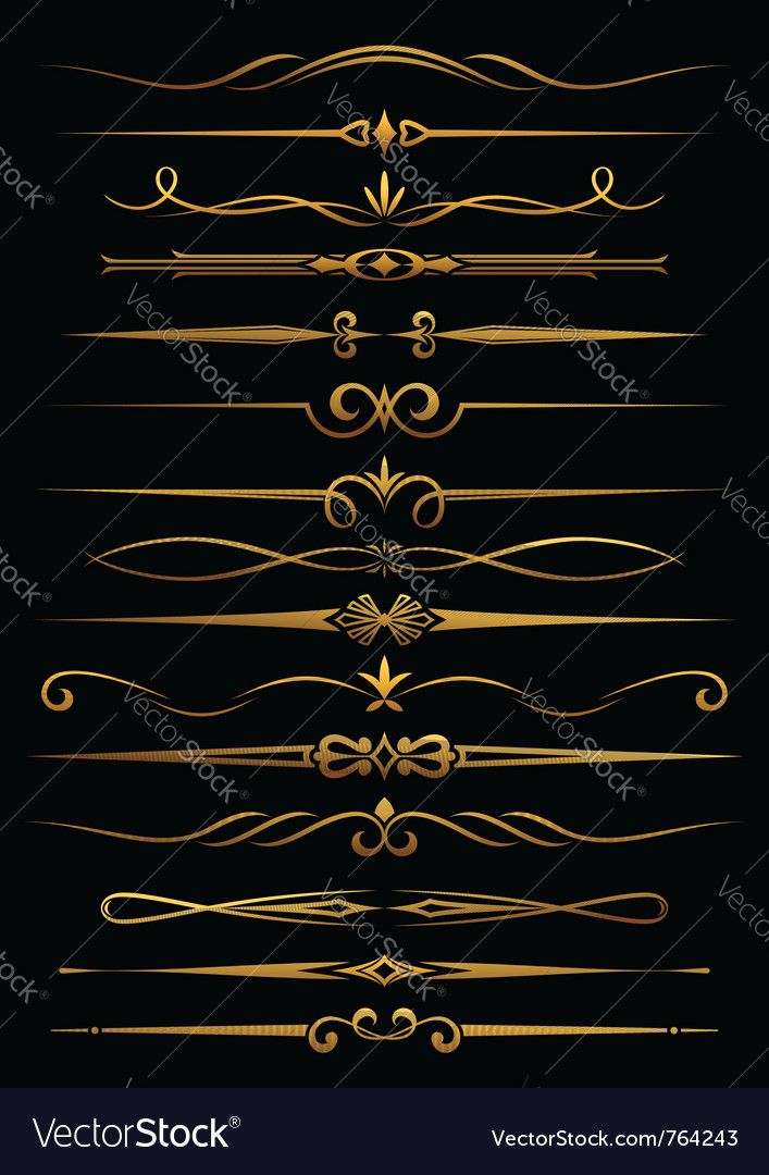 Vintage borders and dividers vector image