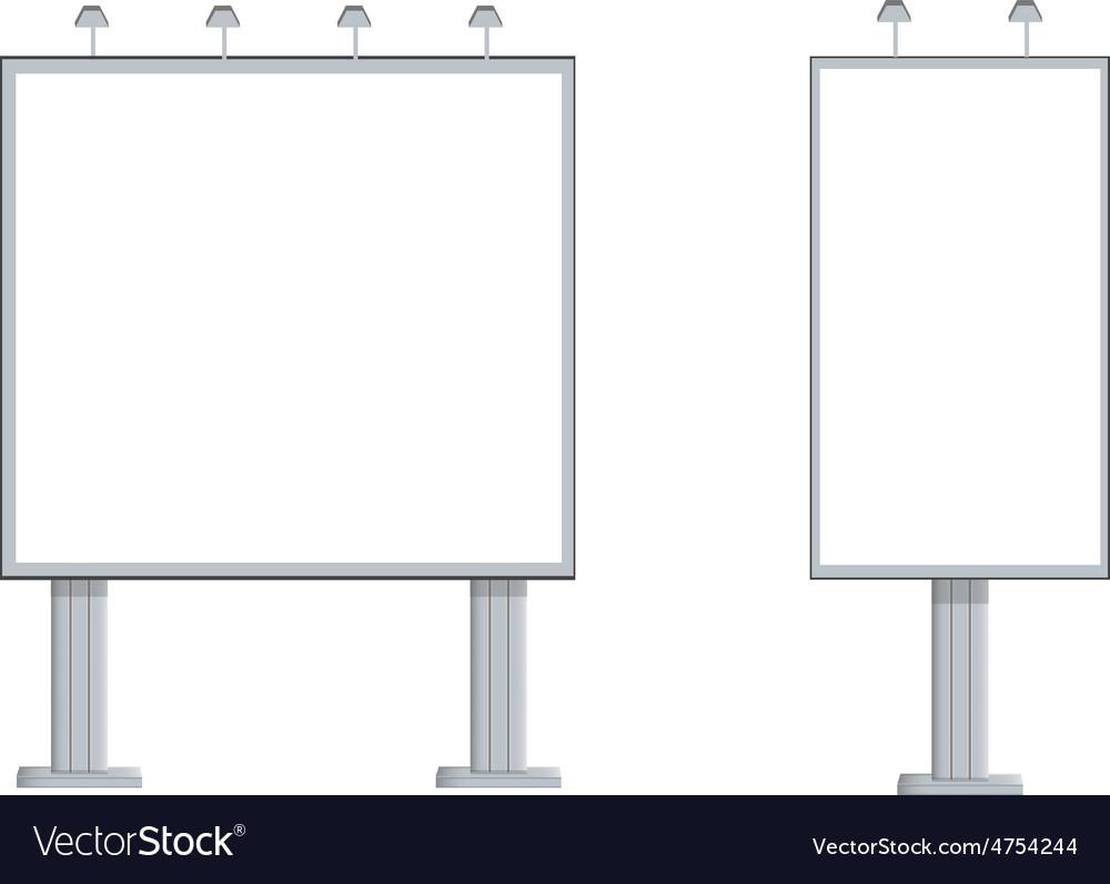 Two billboards vector image