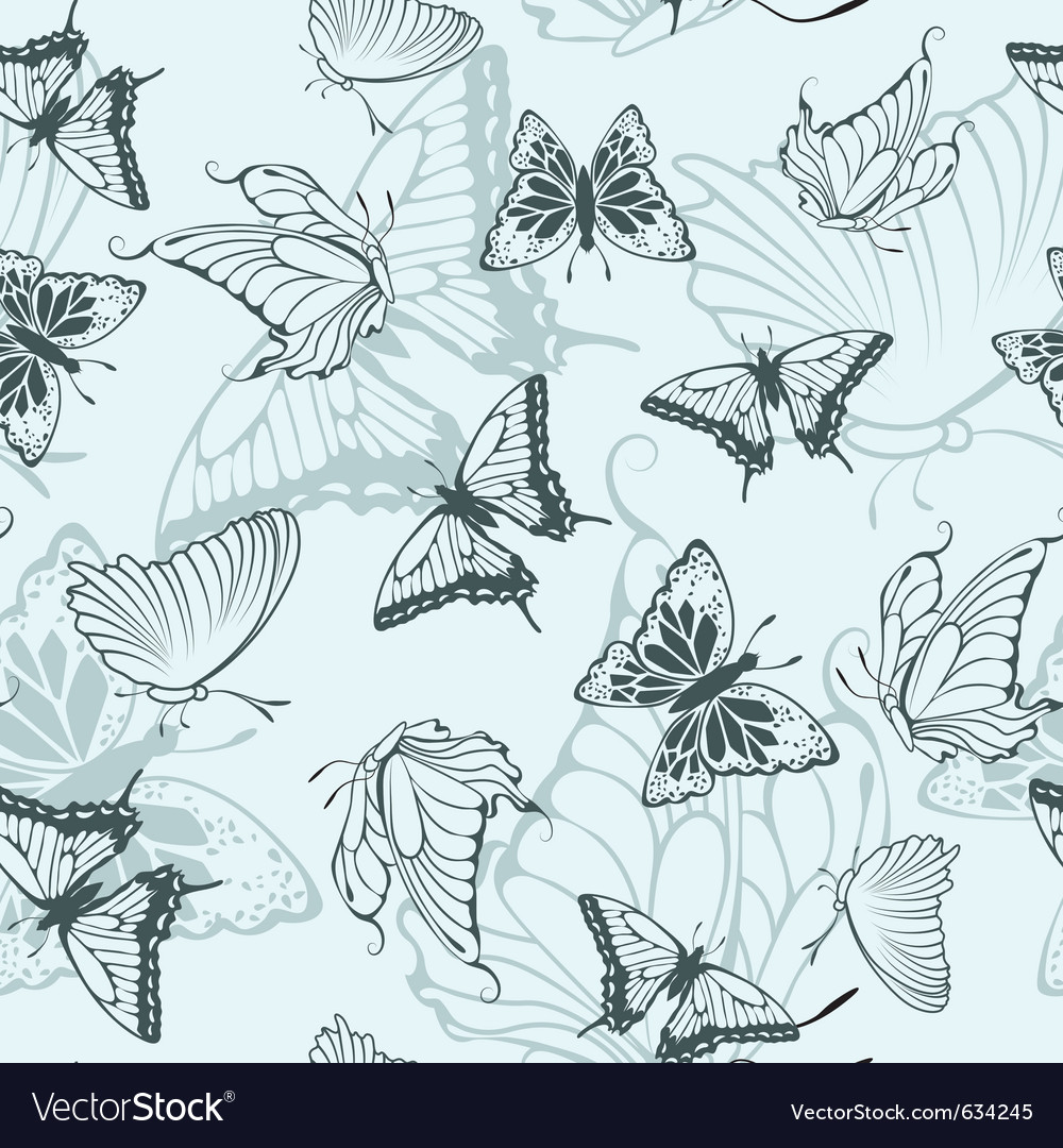 seamless butterfly pattern royalty free vector image