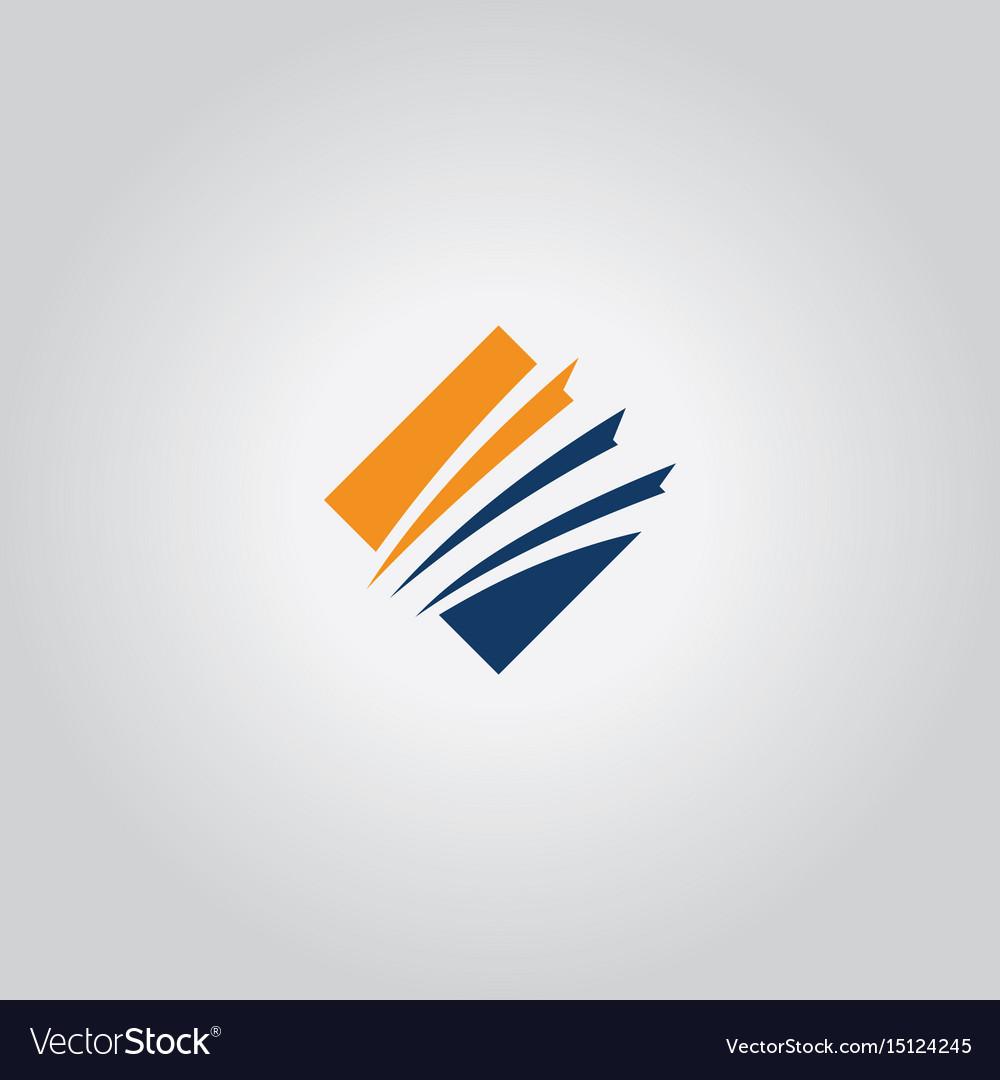 Square business company logo vector image