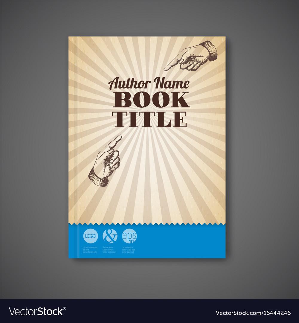 Retro vintage brochure book flyer template vector image