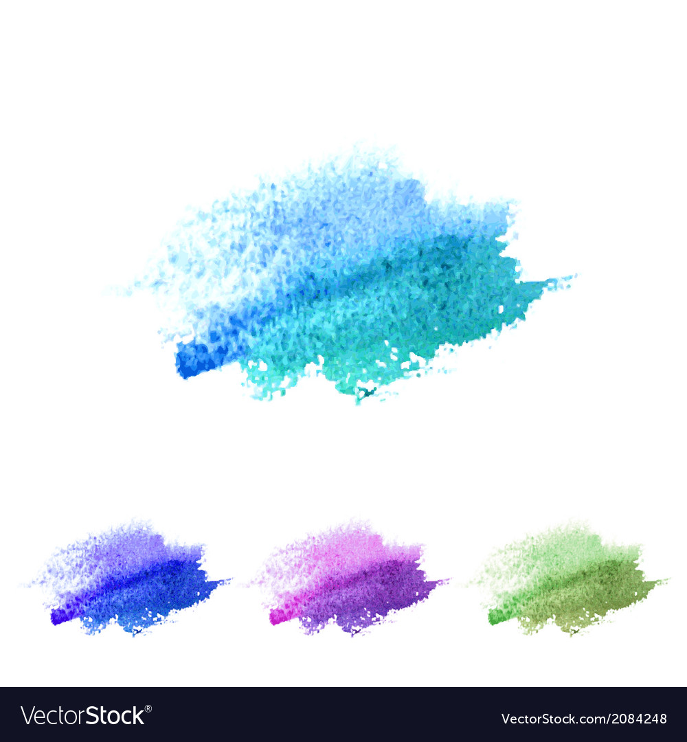 Watercolour abstract banner set vector image